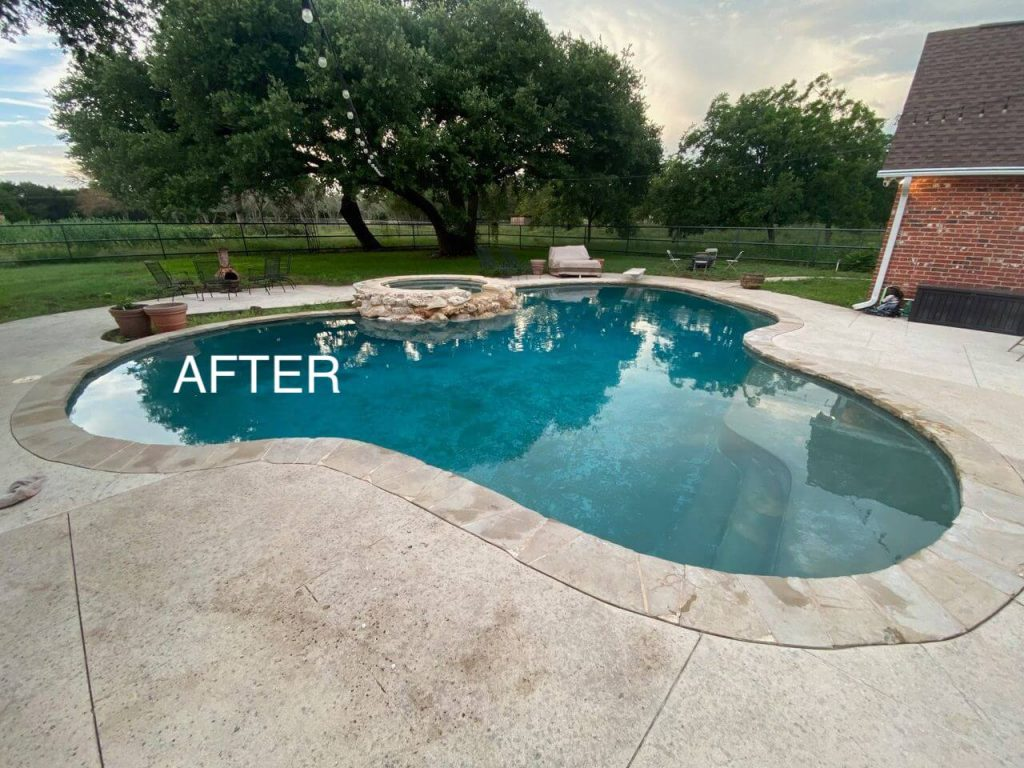 clear pool after cleaning and chemical balance